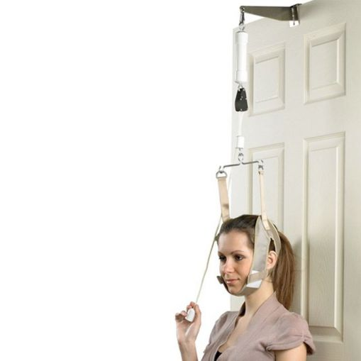 device that exercises your neck, cervical traction helps people with conditions like cervical radiculopathy or arthritis.